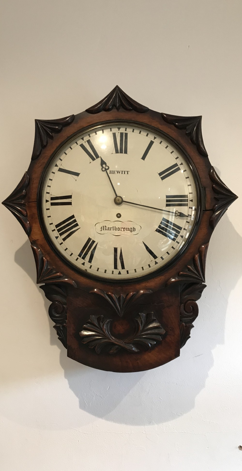 fine regency period fusee wall clock