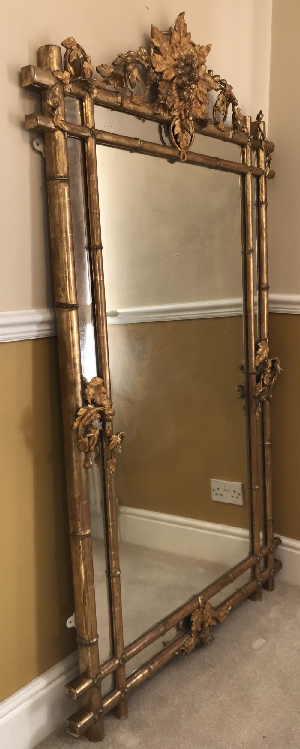 a large 19thc giltwood mirror