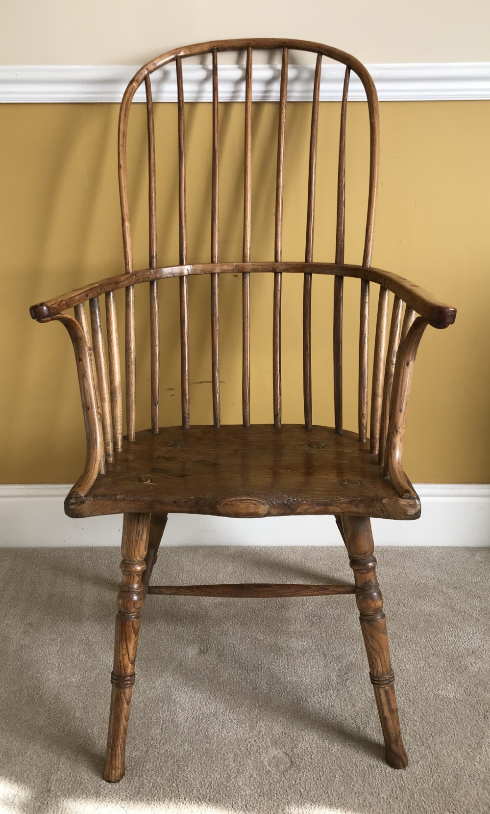 a high back primitive west country chair