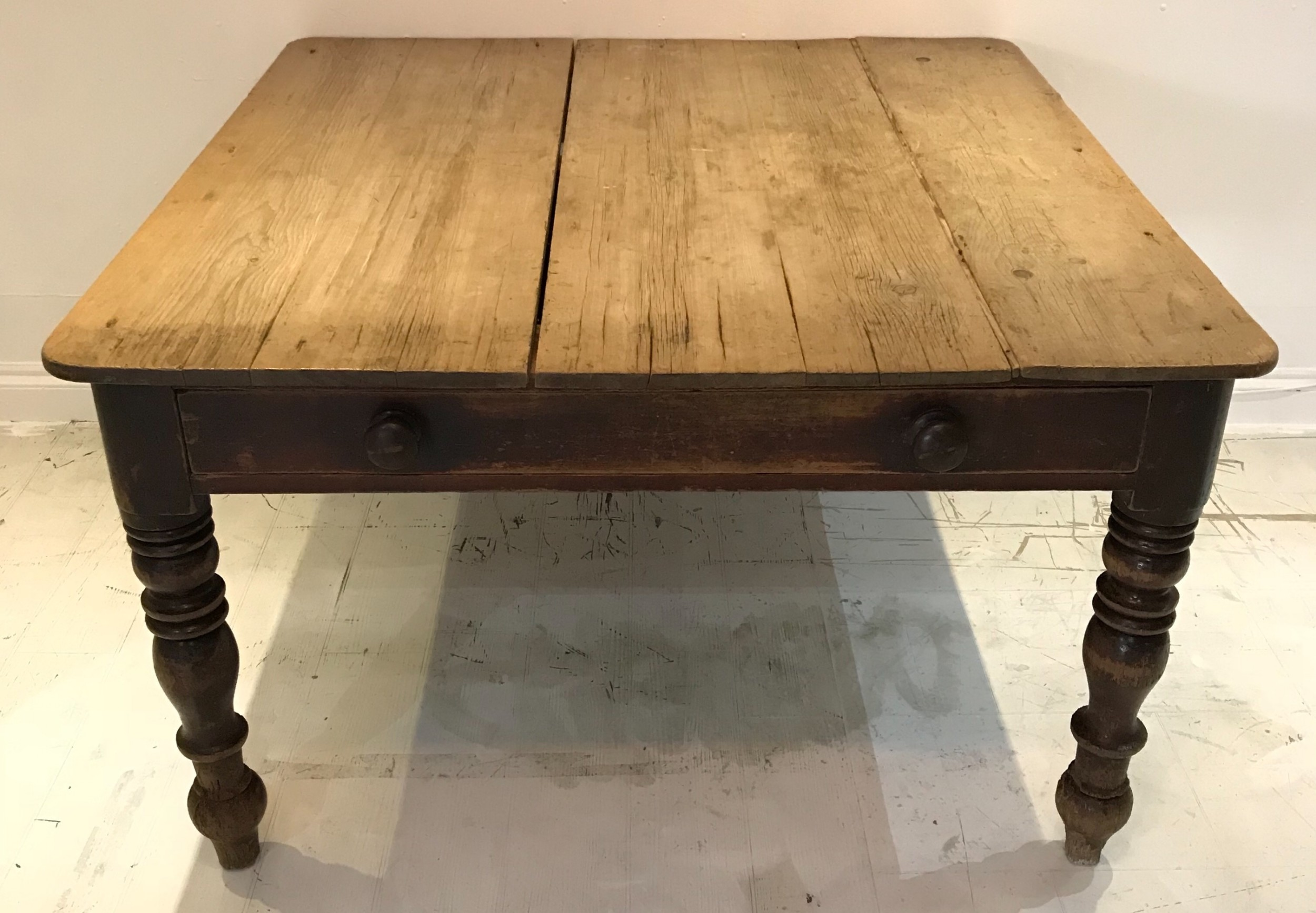 a 42 square 19thc preparation breakfast table