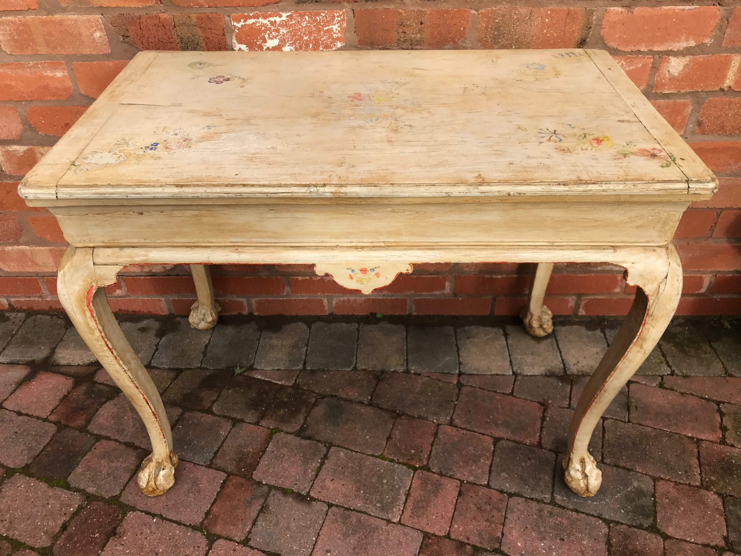 a rare french provincial regence period painted table