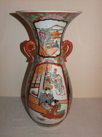 Antique Japanese Samurai Vases The Uks Largest Antiques Website