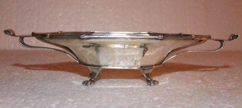 silver art deco bonbon dish by edward souter barnsley