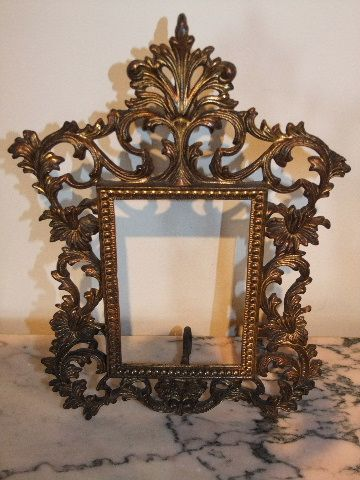 210a4baadf5 Pair Of Brass Gilded Victorian Frames