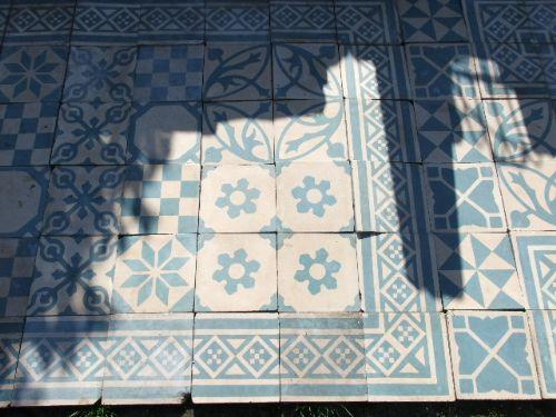 Antique Edwardian Ceramic Floor Tiles C1900 334971