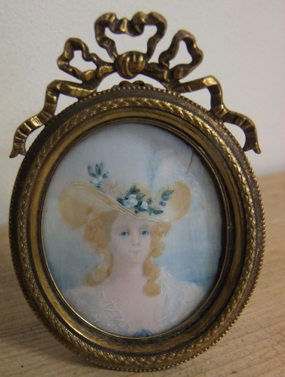 late victorian miniature of a young lady c1890