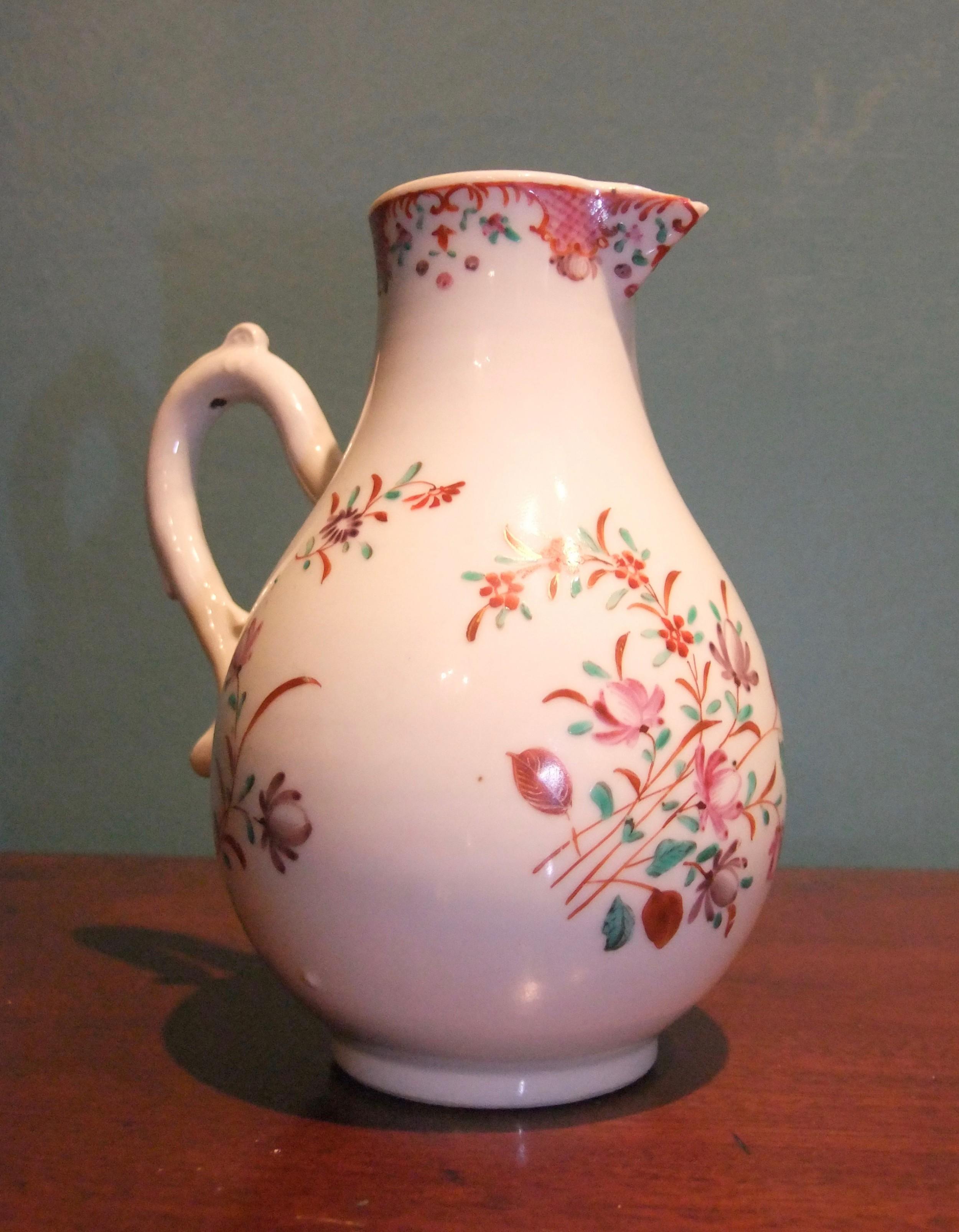 chinese famille rose sparrow beak cream jug qianlong period c1750