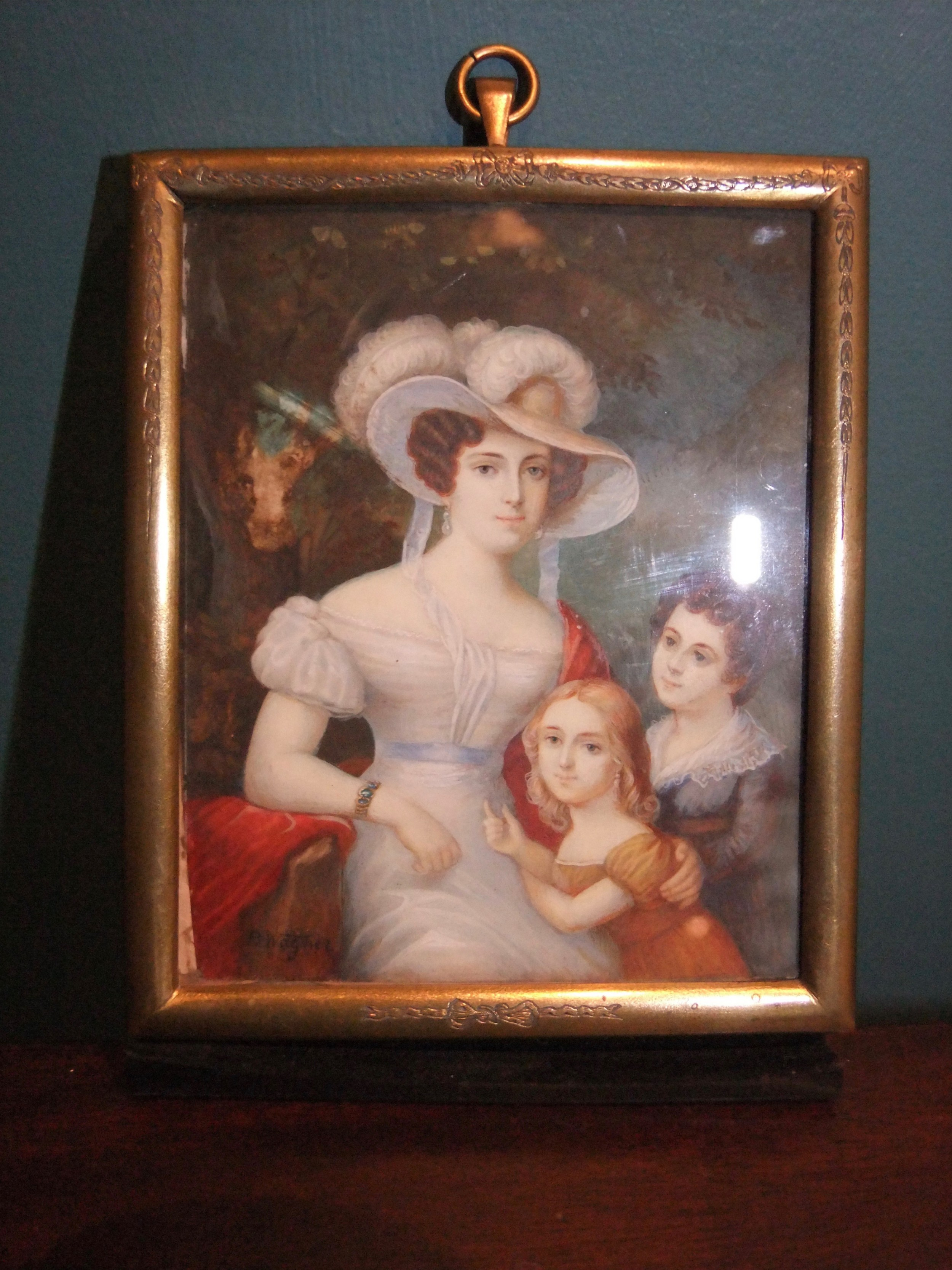 19th c miniature painted by r wagner c1850
