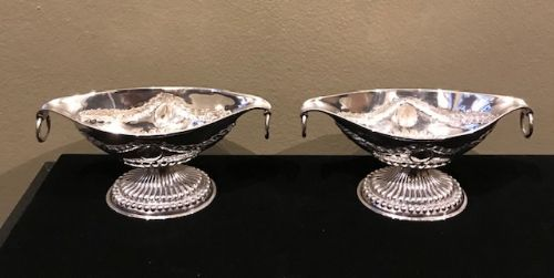 attractive pair of late victorian table salts 1901