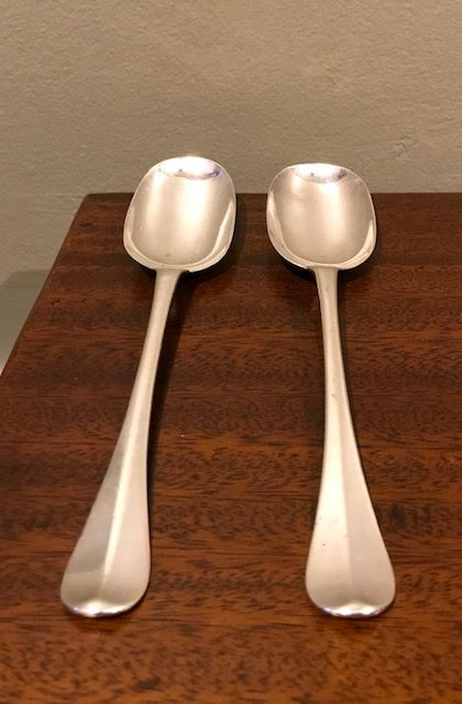 a rare pair of george i silver table spoons by charles jackson