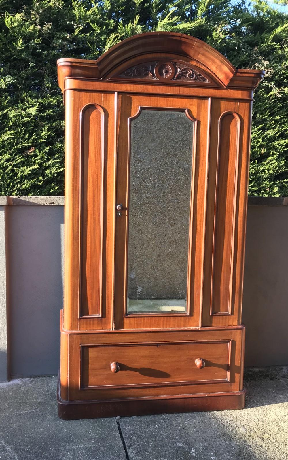 victorian mahogany single wardrobe