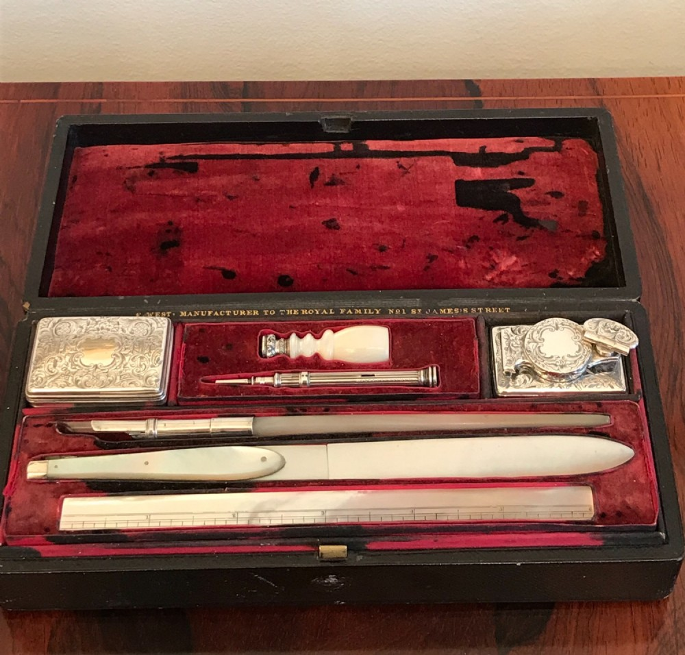 superb quality victorian writing set by fitzmaurice west
