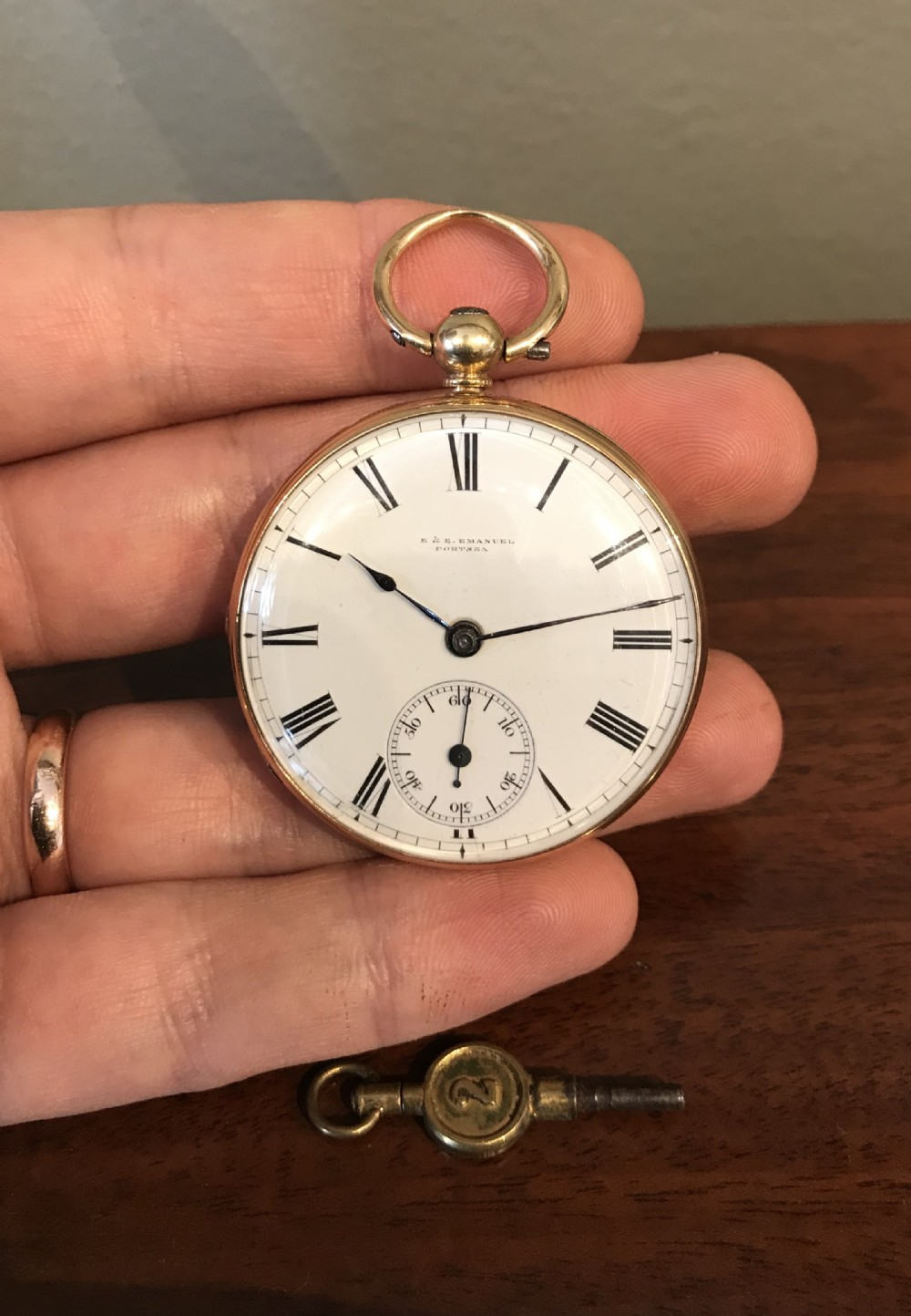 victorian 18ct gold pocket watch