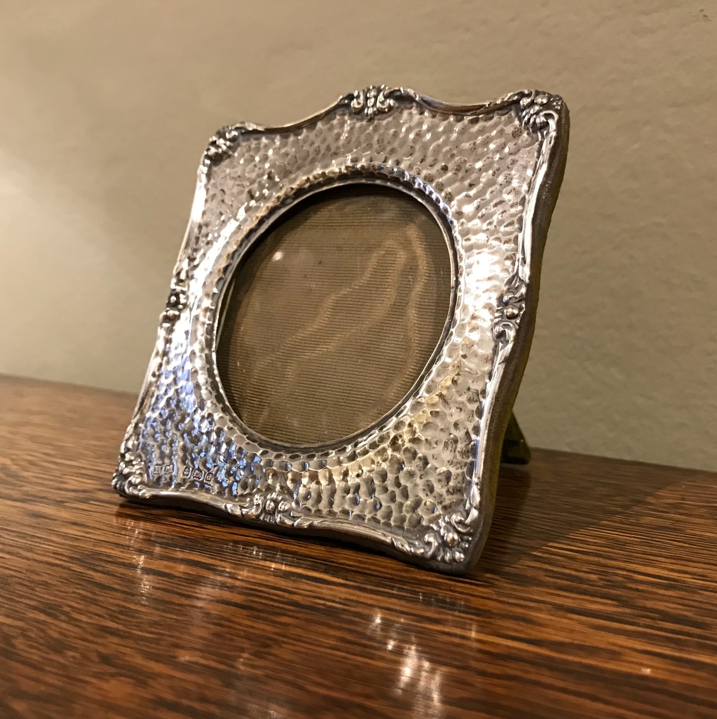 arts crafts silver photograph frame