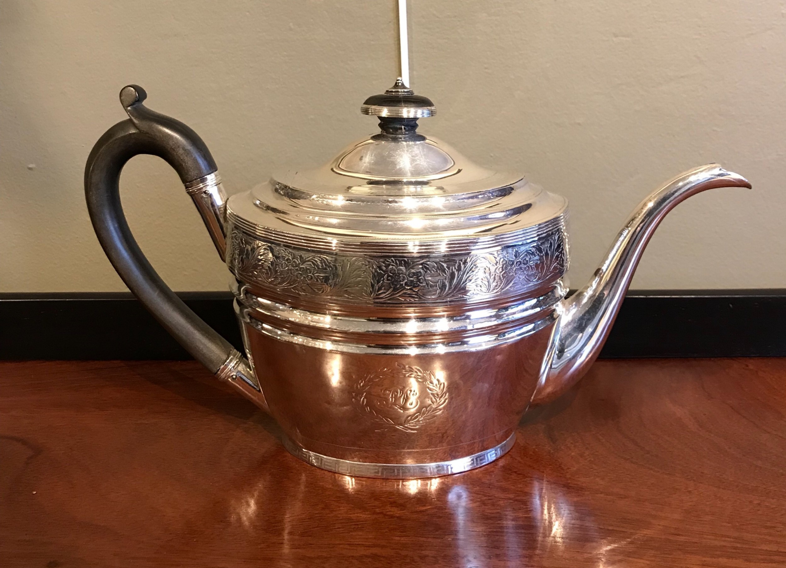 scottish georgian silver teapot edinburgh 1802 by william patrick cunningham