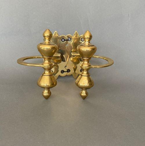 pair of victorian brass jamb hooks