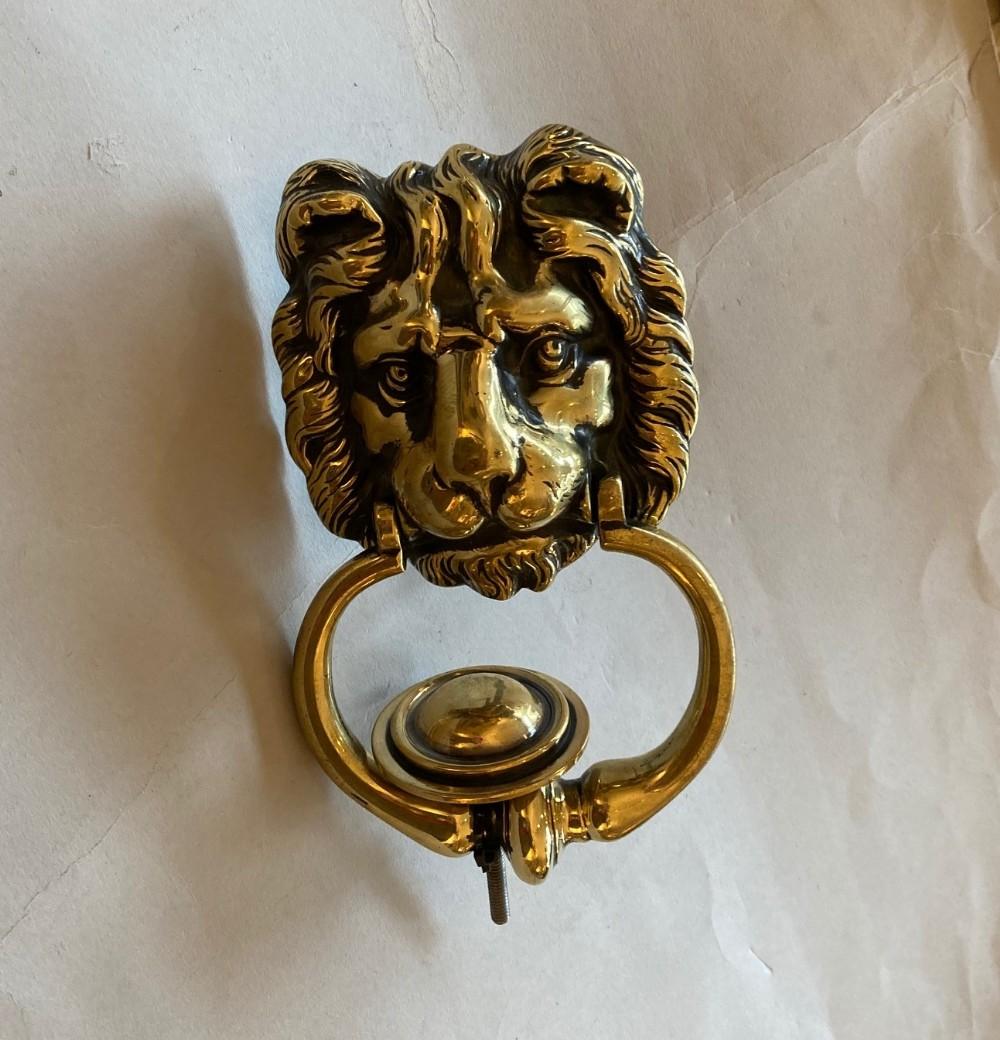 victorian lion door knocker