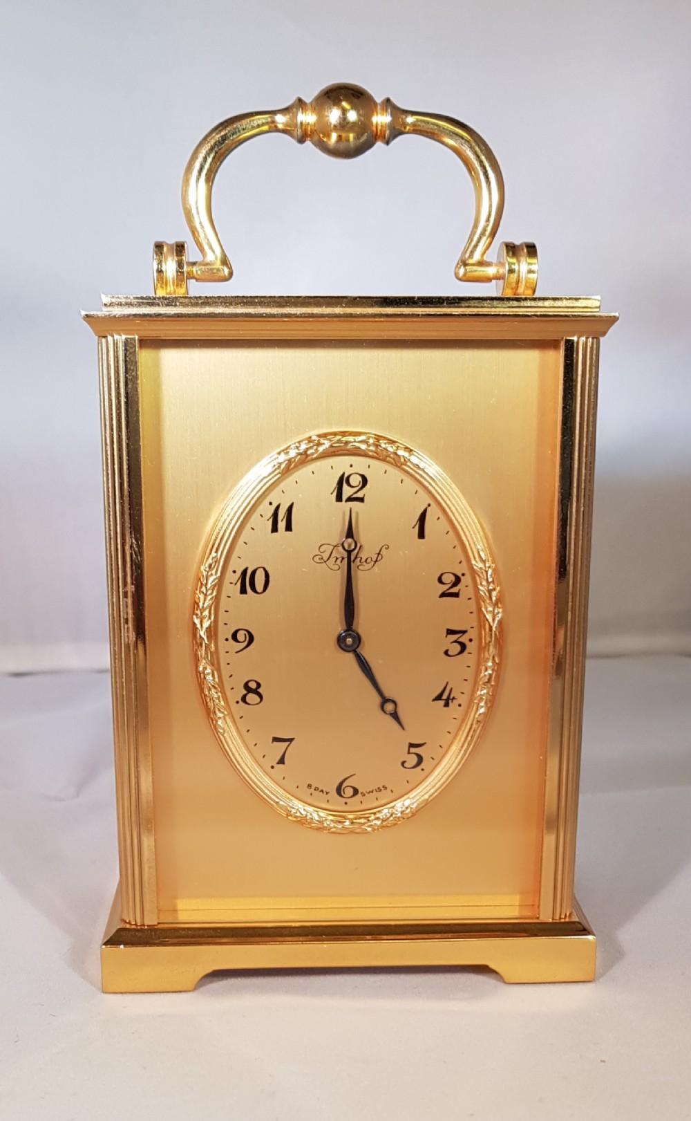 a pristine imhof gilt timepiece