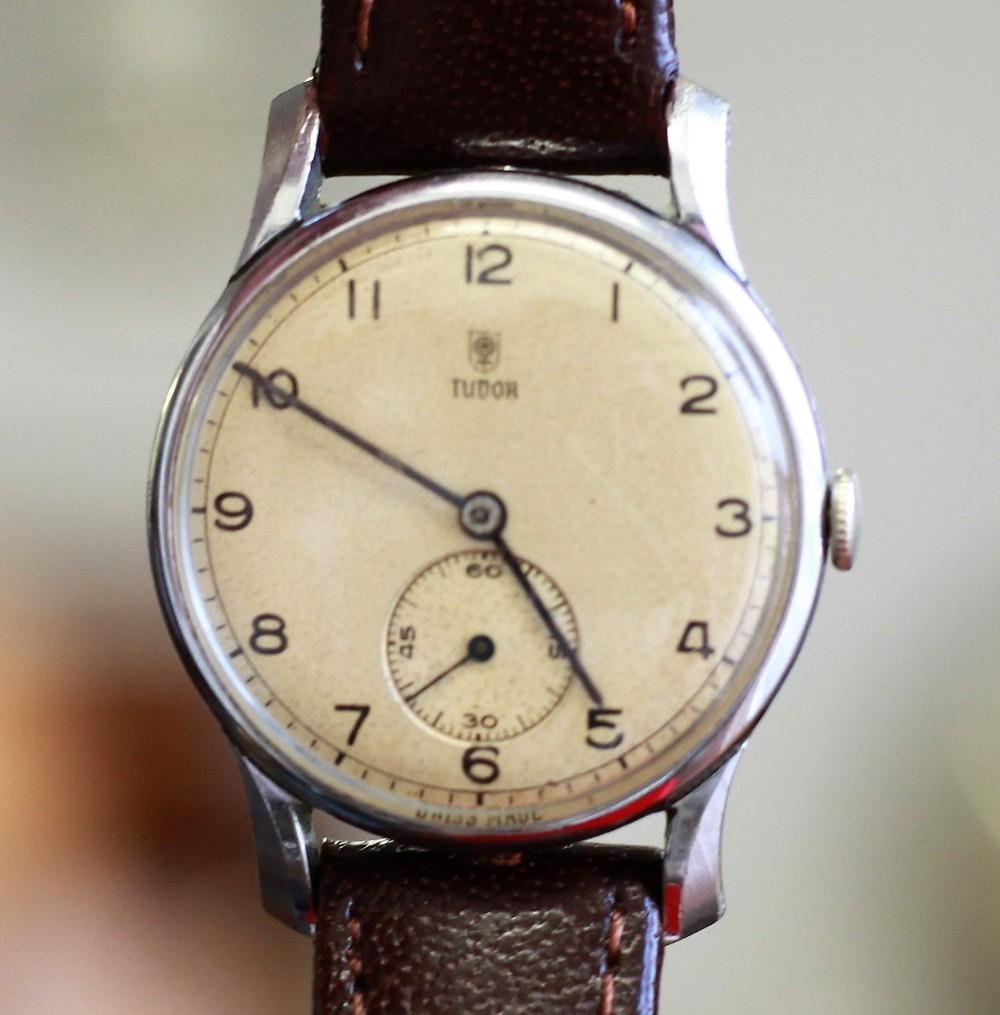 c1936 rolex tudor 17j stainless steel wrist watch