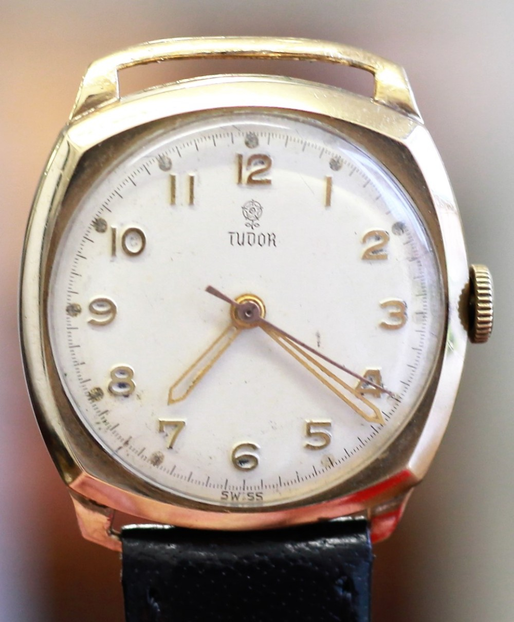 1954 gold rolex tudor with sweep second
