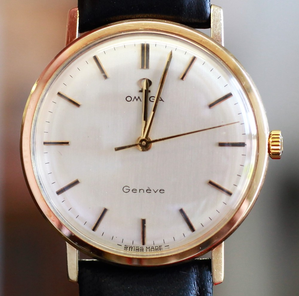 pristine 9ct gold 1969 omega geneve with 601 movement