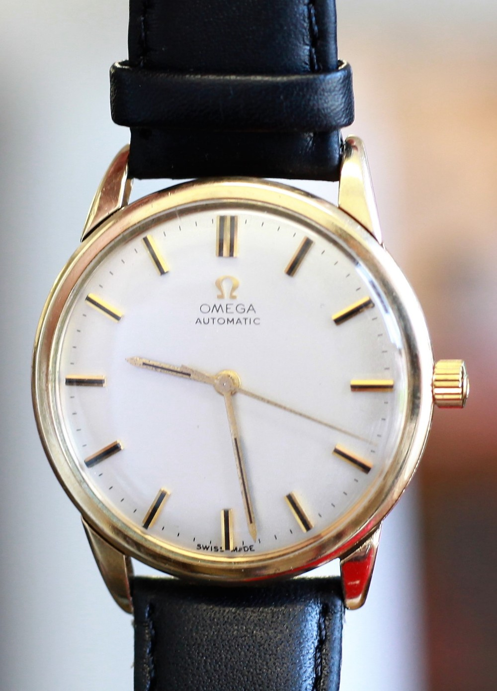 a pristine 9ct gold 1966 omega automatic numbered 24748429