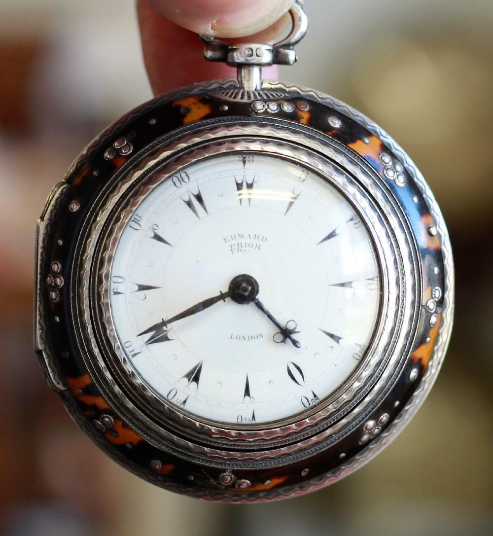 c1842 triple cased ottoman pocket watch by edward prior