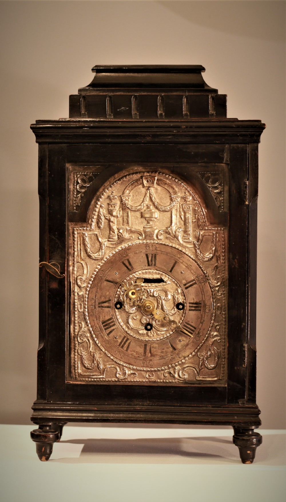 rare c1750 grand sonnerie austrian bracket table clock with verge escapement in original condition with repousse dial
