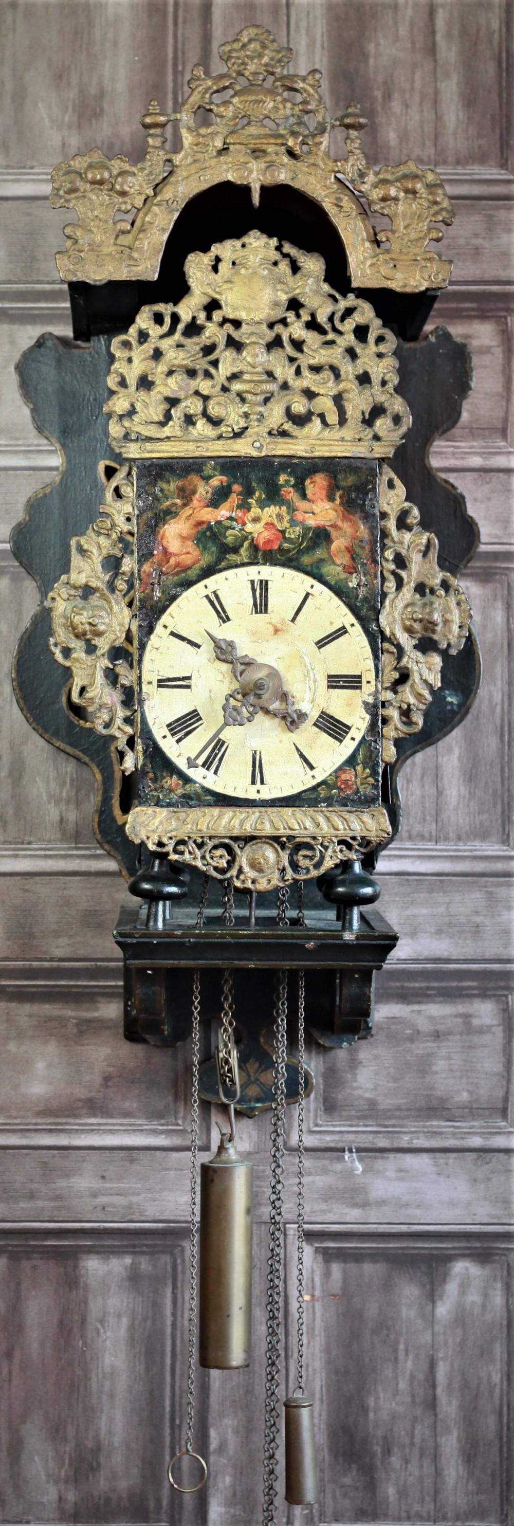 18th century dutch stoelklok in a most wonderful original condition
