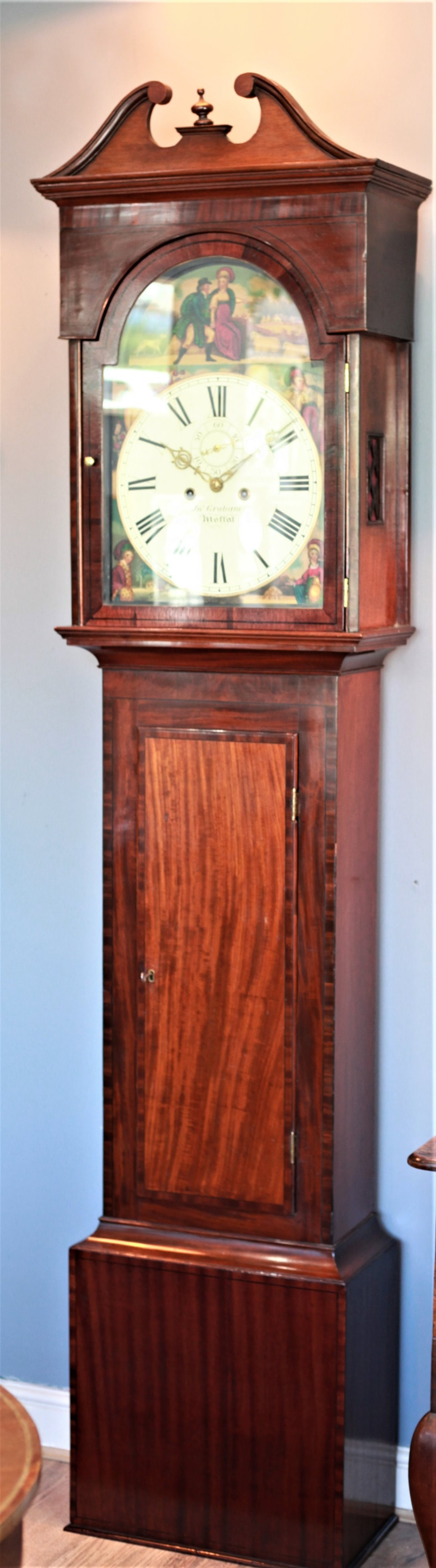 regency period scottish mahogany longcase clock by john graham of moffat
