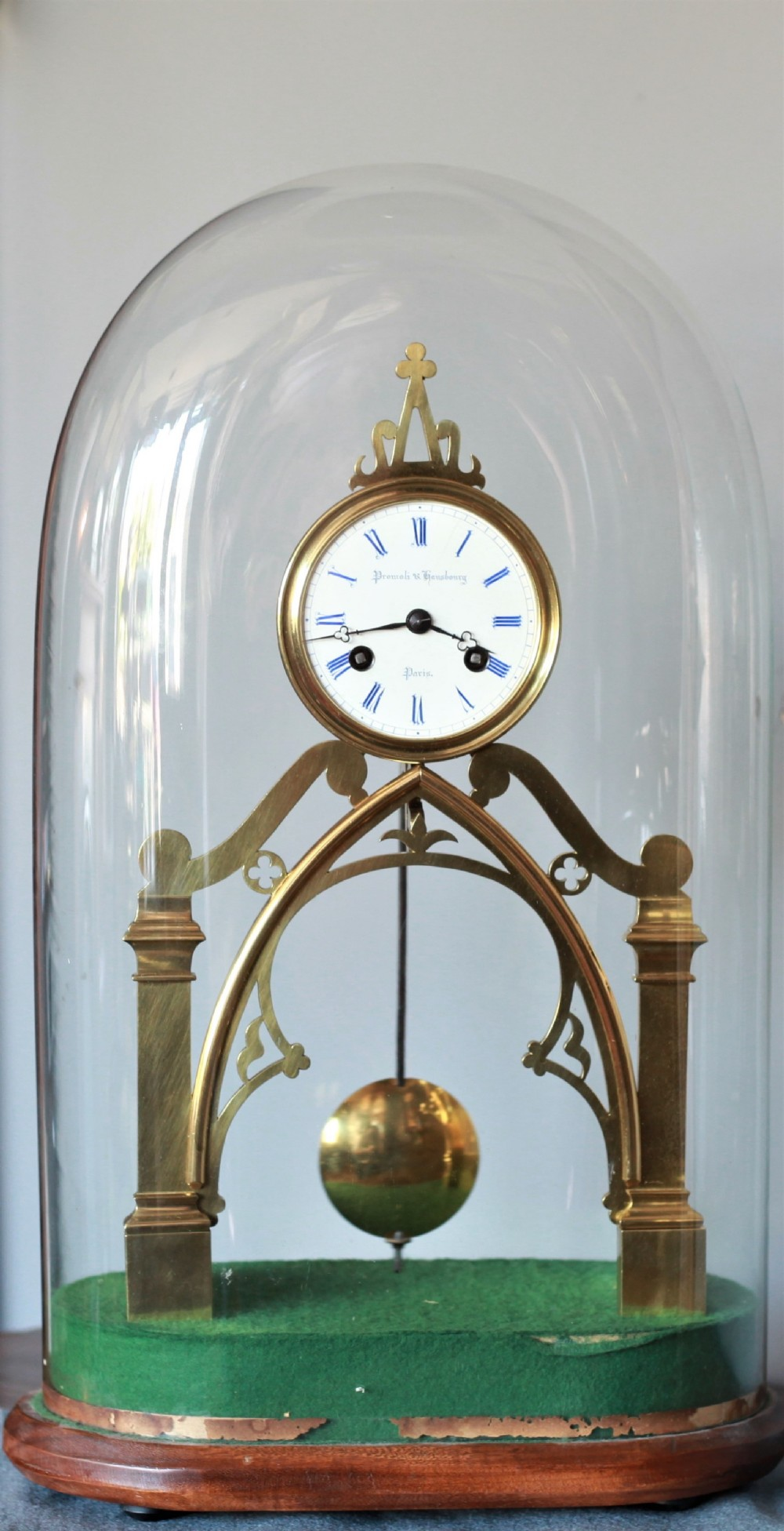 fine quality skeleton clock number 150 by promoli and hausburg of paris