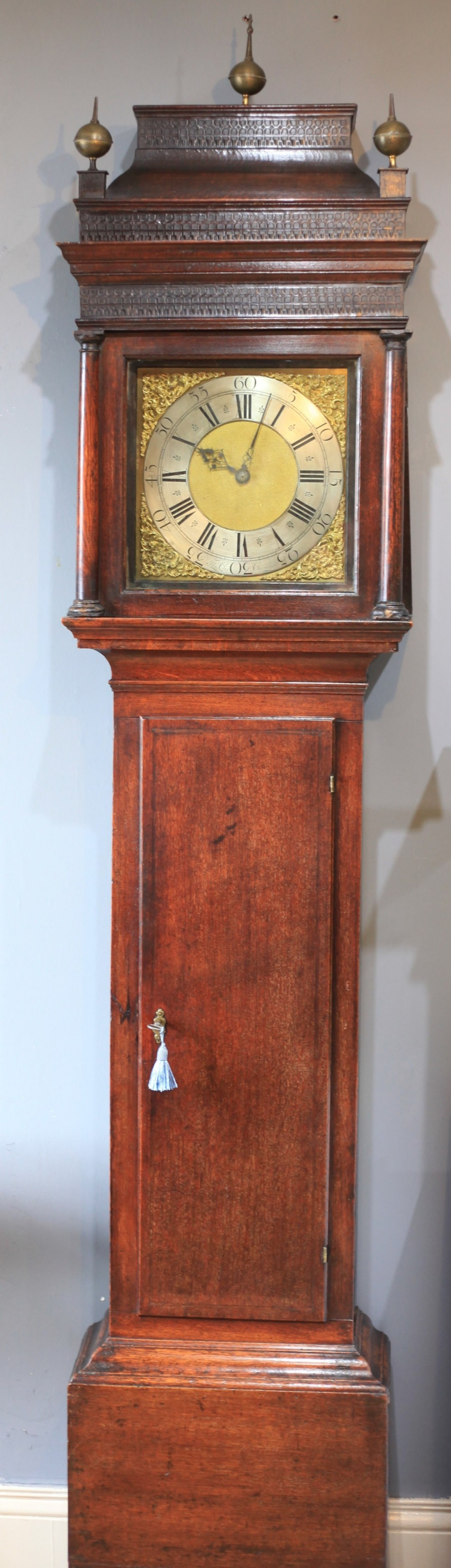 a george i 30 hour oak longcase clock by thomas cox c1740