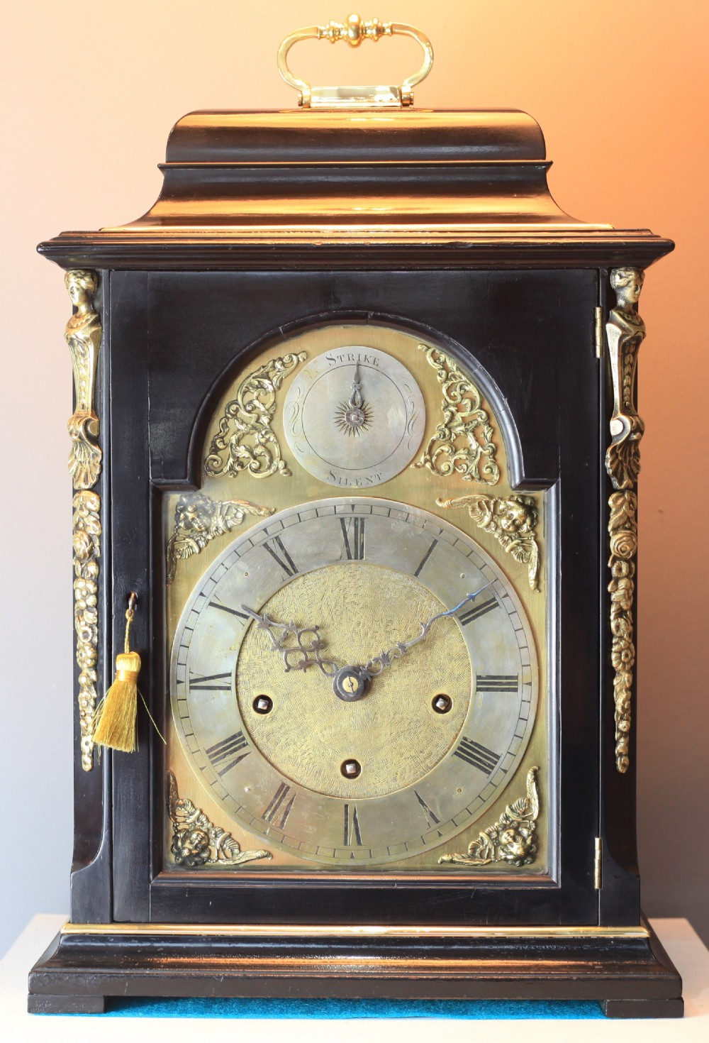 an 18th century style quarter chiming bracket clock by matthias bauerle c1900