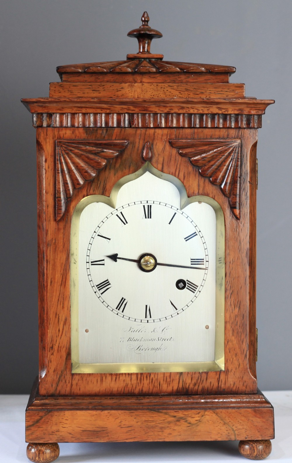 miniature rosewood bracket library clock by fallar and co c1830