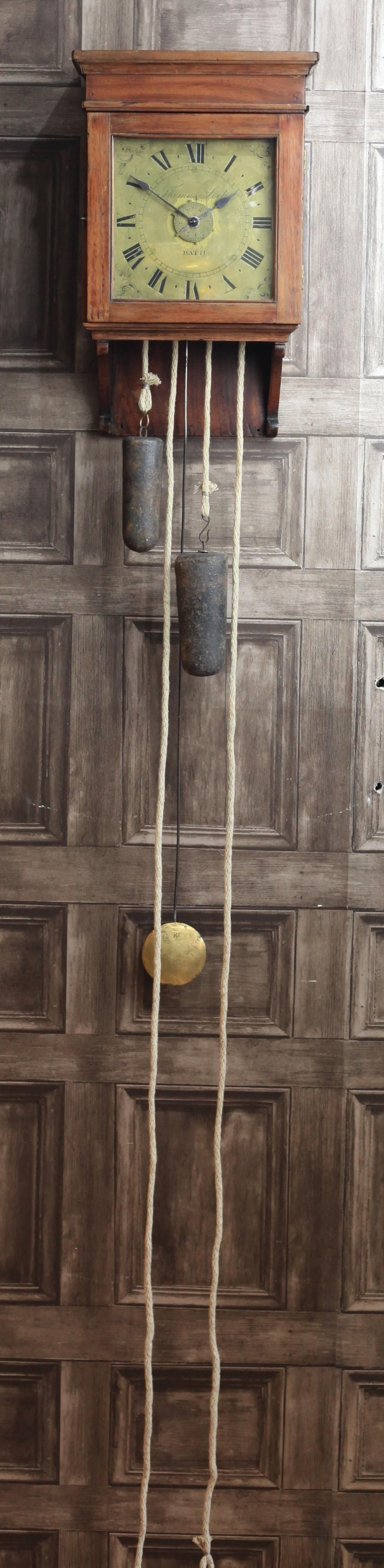 a rare george ii hooded wall clock by thomas lock c1750