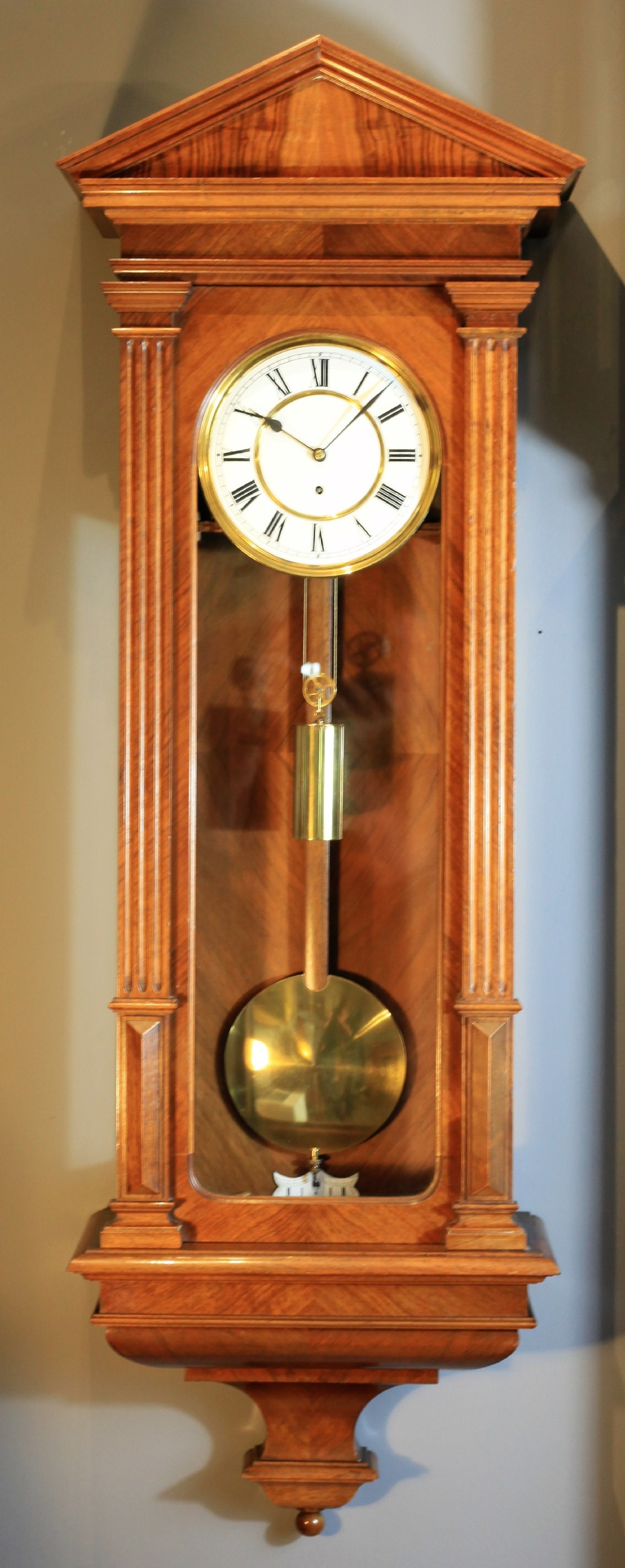 a walnut veneered lenzkirch wall clock c1890