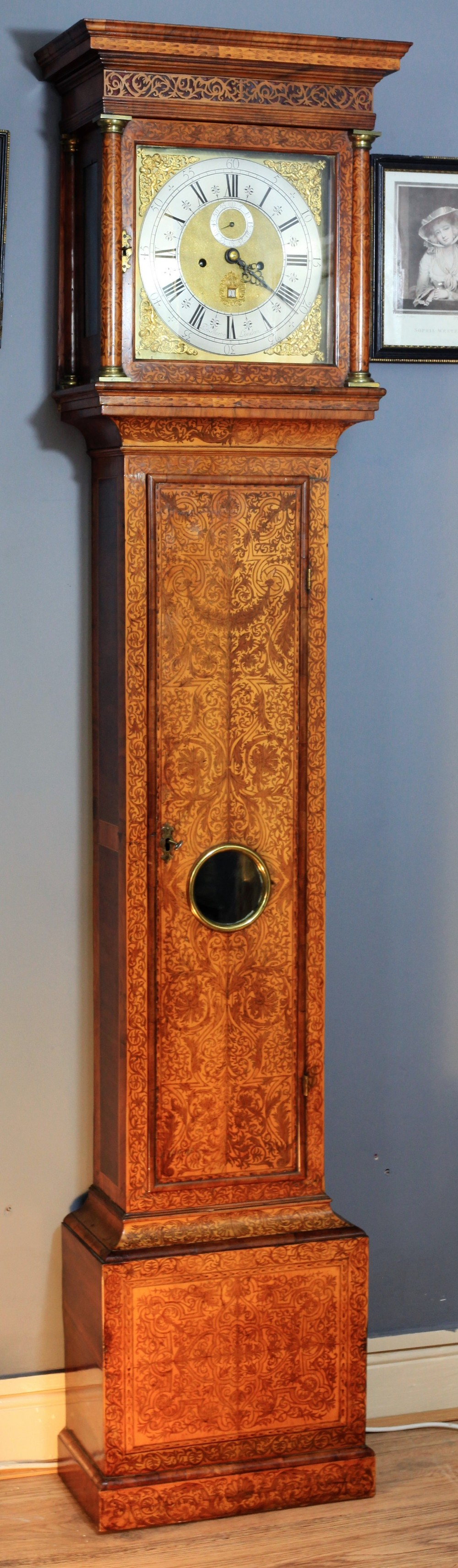 a superb queen anne marquetry longcase clock by thomas martin c1700