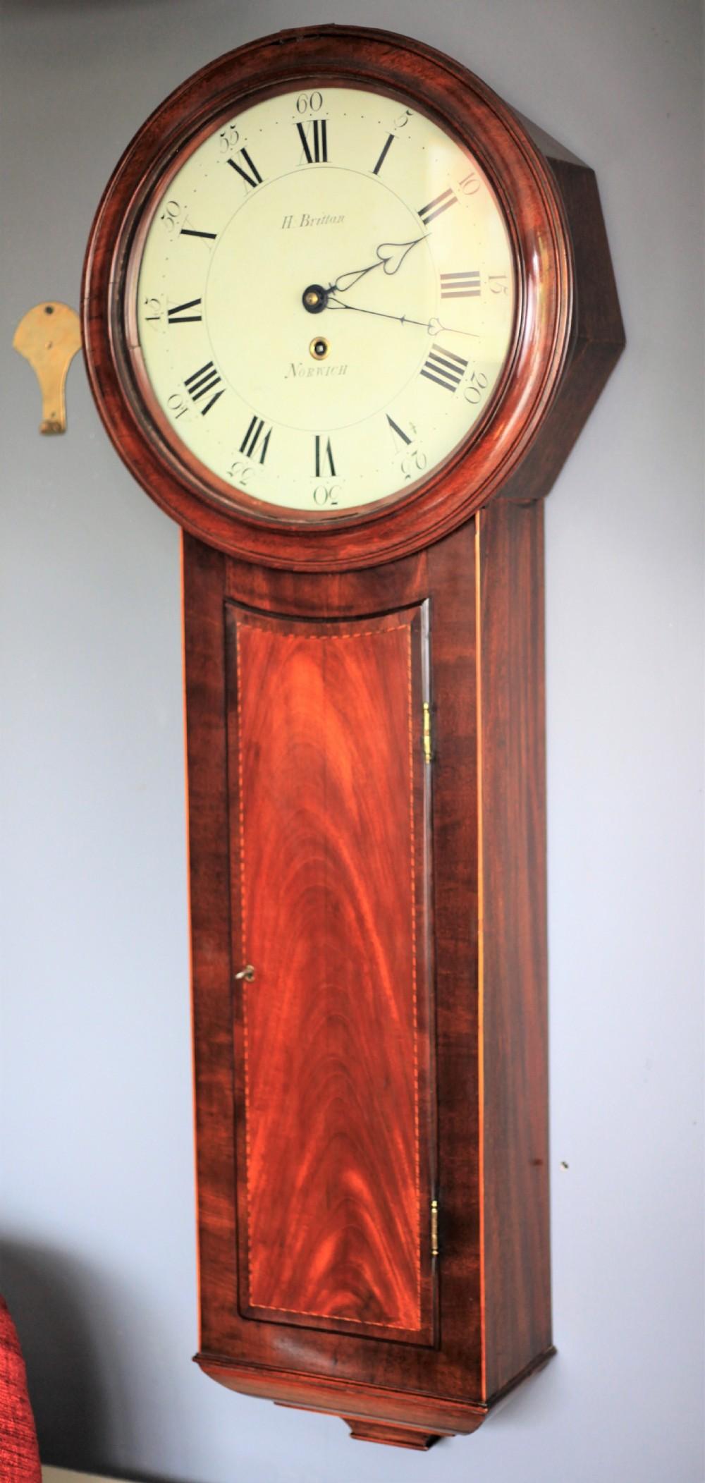 a fine norwich wall clock by h brittan