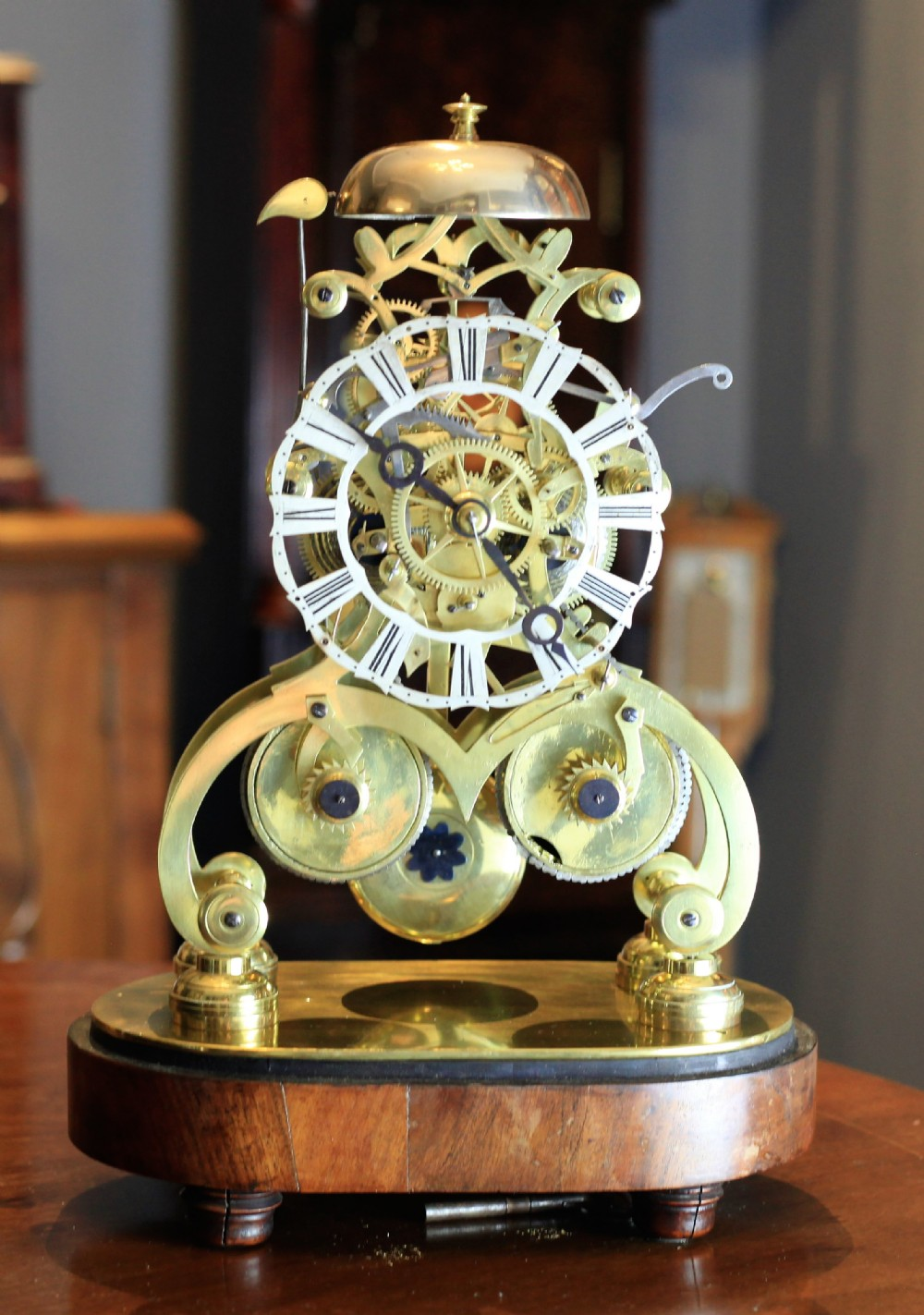a double fusee english skeleton clock by edwards of stoubridge 18291853