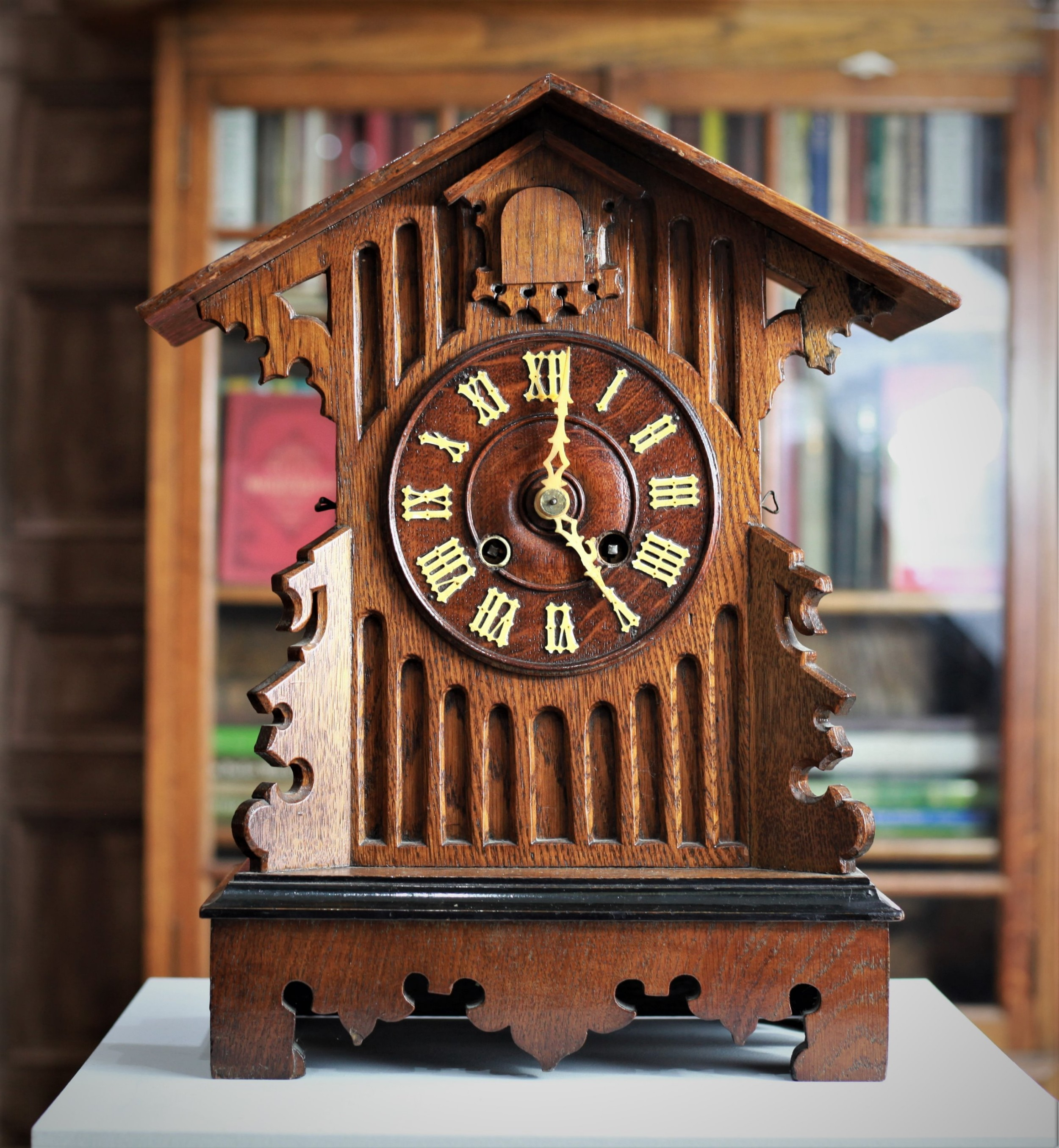 late victorian cuckoo mantle clock by gordian hettich sohne ghs