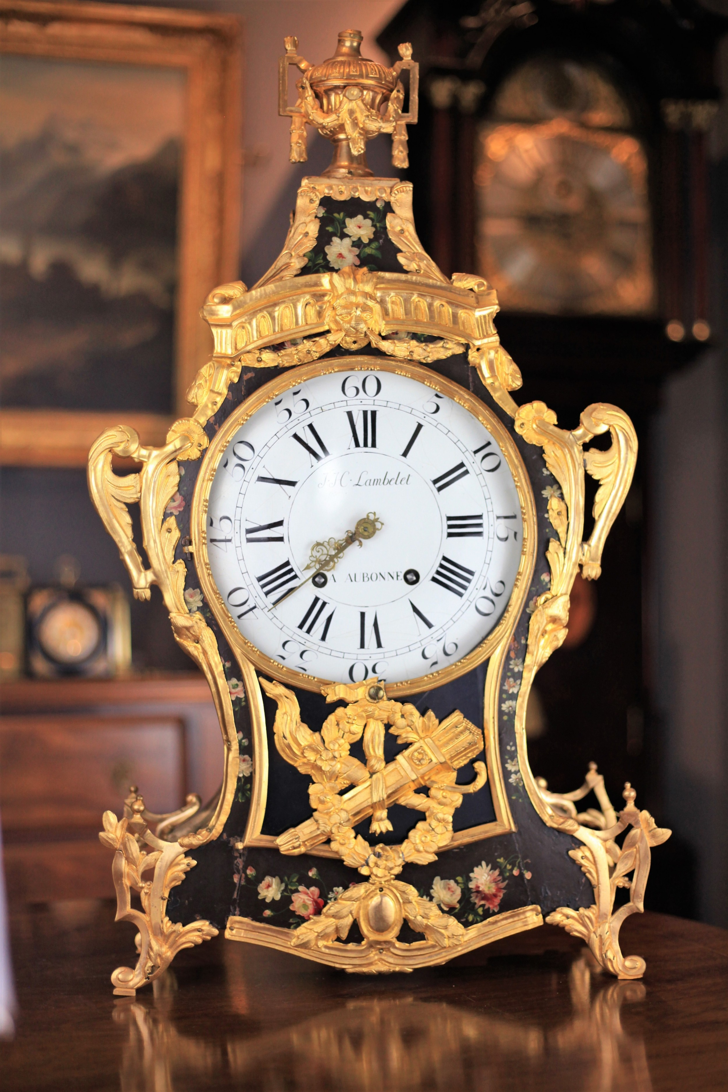 a late 18th century neuchatel quarter repeating bracket clock by lambelet c1780