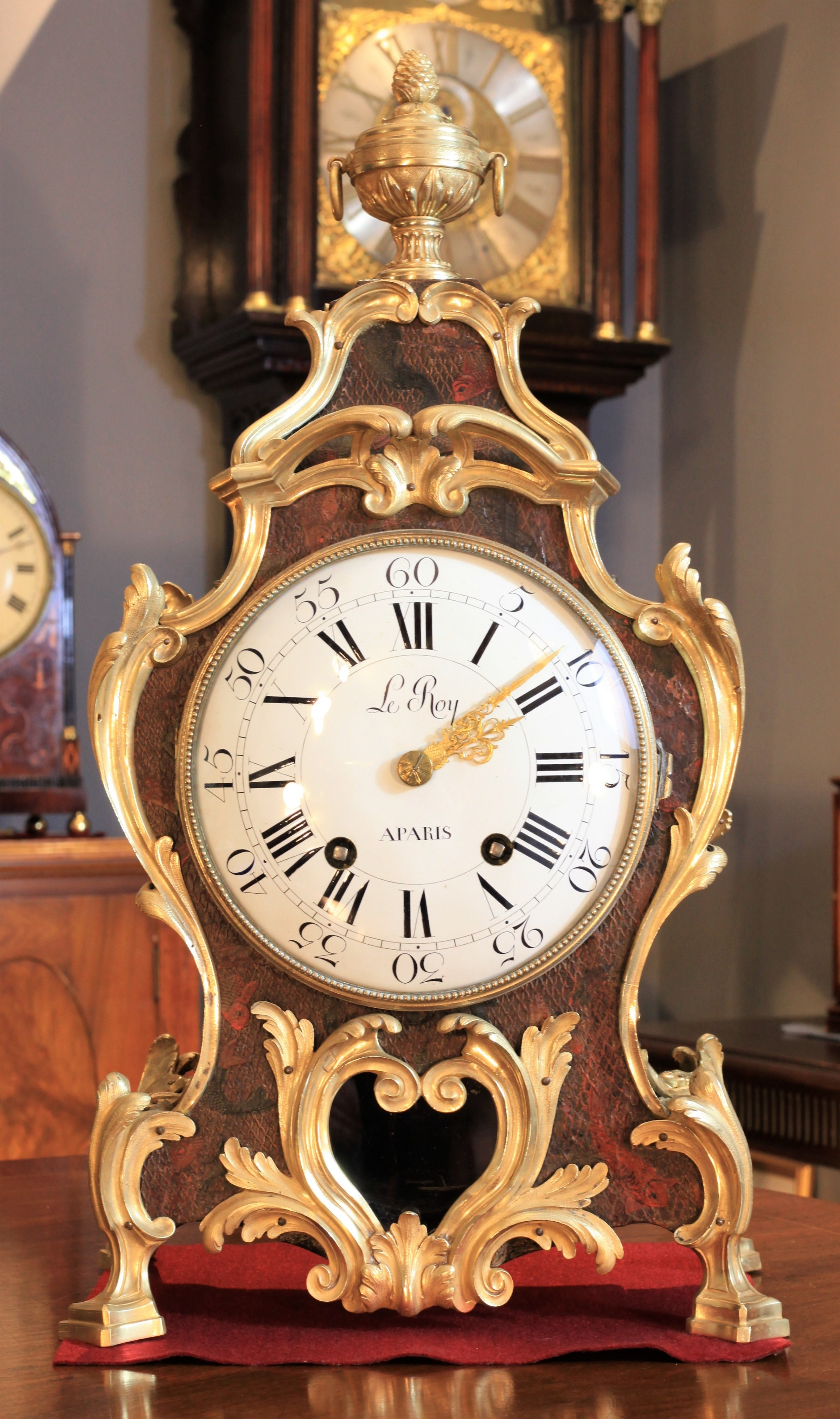 a rare 18th century french bracket clock by pierre le roy c1770