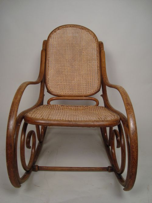 antique cane rocking chair c1920 238026. Black Bedroom Furniture Sets. Home Design Ideas
