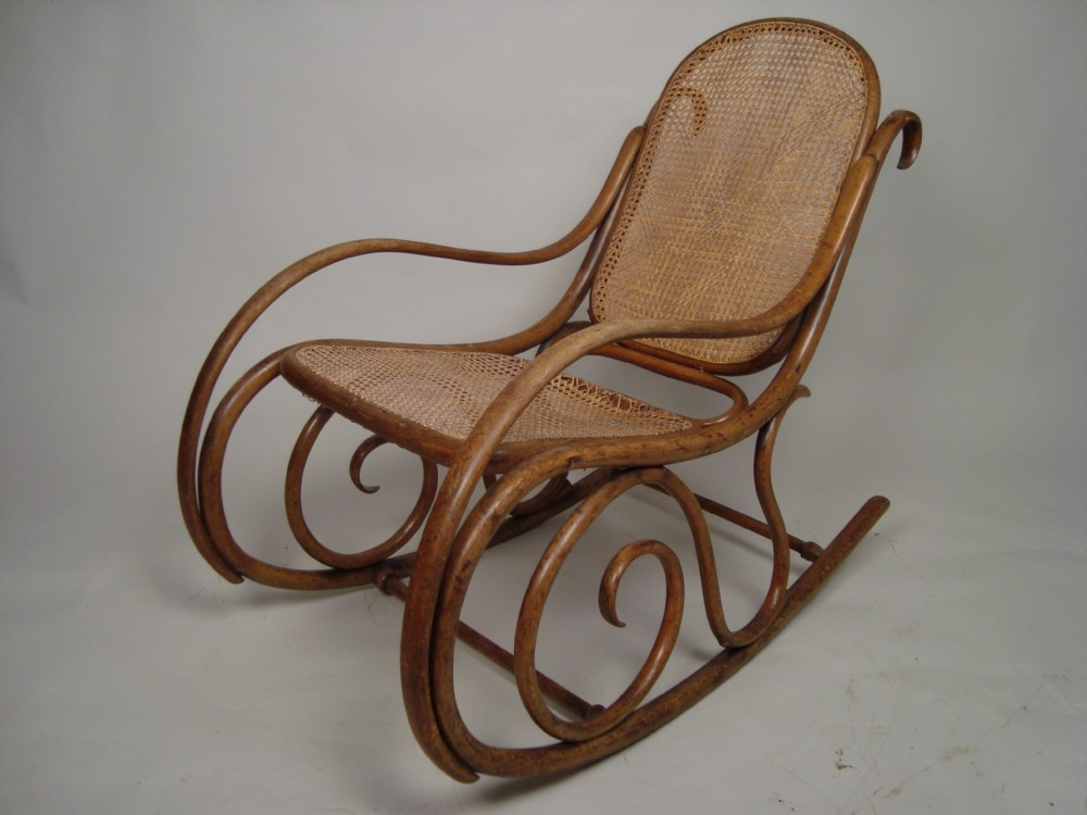 Antique Cane Rocking Chair C1920