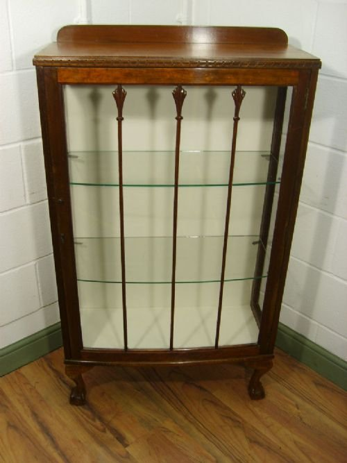 antique mahogany style display book china cabinet