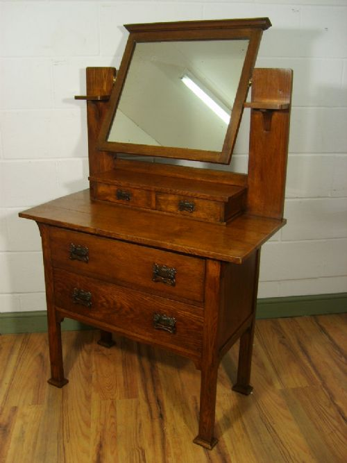 arts and crafts dresser antique arts amp crafts oak dressing table c 1900 178358 3371