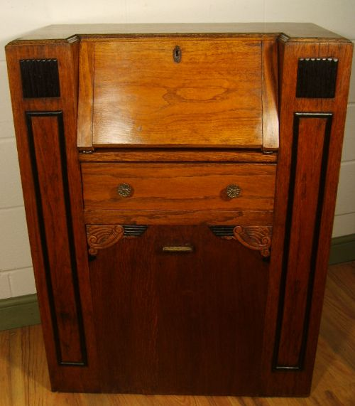 Antique art deco oak students bureau 198129 for Deco bureau