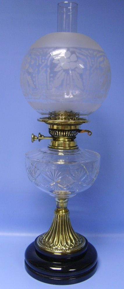 Glass Oil Lamp Shade Uk Only