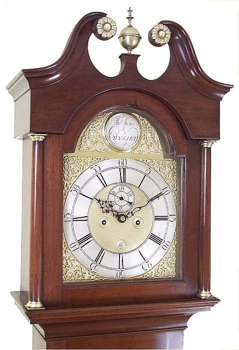 small antique grandfather clock by thomas spence of dysart - photo angle #2