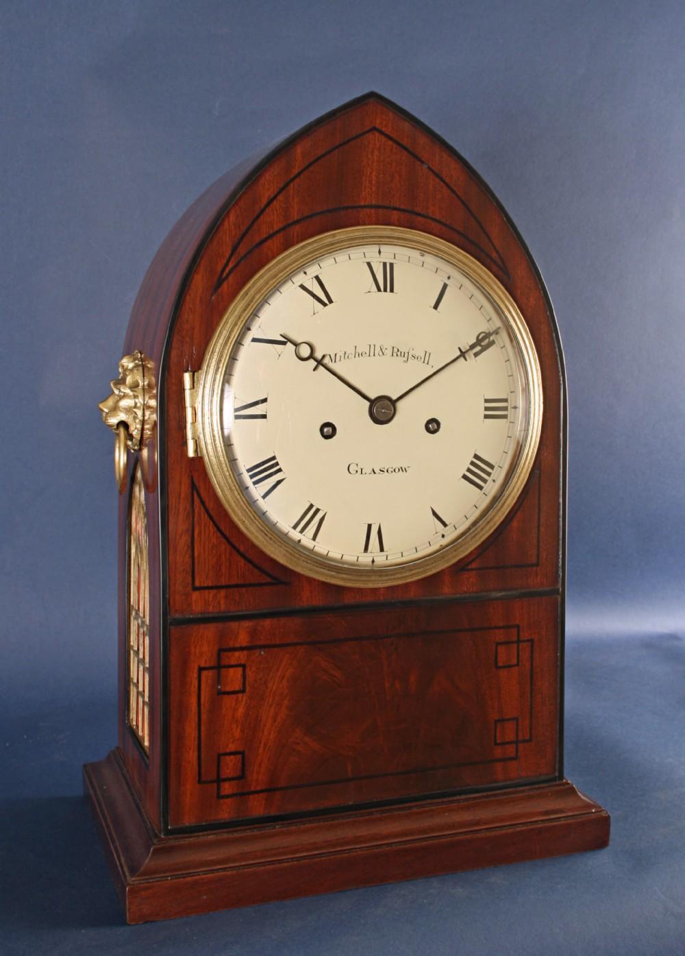 scottish bracket clock by mitchell russell of glasgow